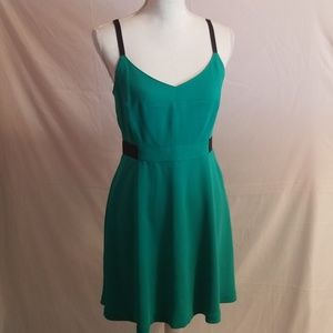 Rachel Roy Green & Black Adjustable Strap Dress